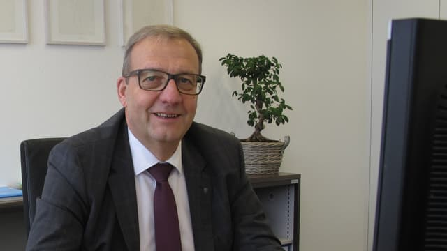 Porträt des Nidwaldner FDP-Regierungsrats Alfred Bossard.