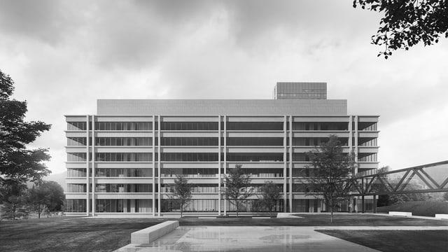 Siegerprojekt Polizeigebäude Modellfoto