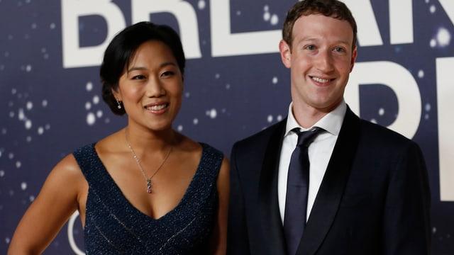 Priscilla Chan und Mark Zuckerberg.