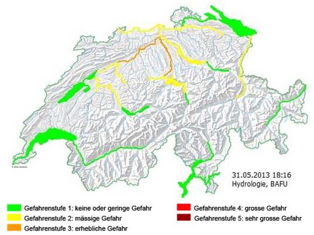 Gefahrenkarte Schweiz