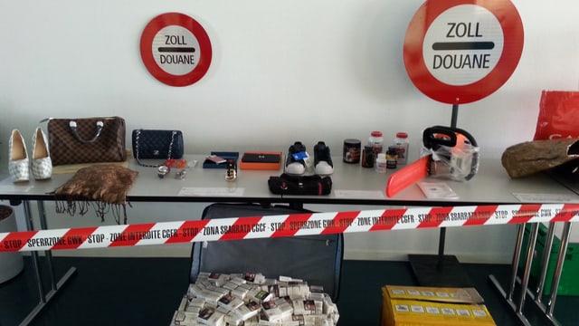 Konfiszierte Gegenstände