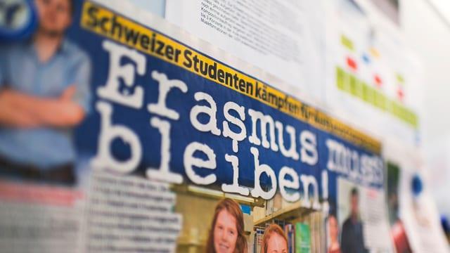 Werbung für Erasmus.