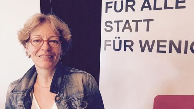 Julia Gerber Rüegg an der Delegiertenversammlung.