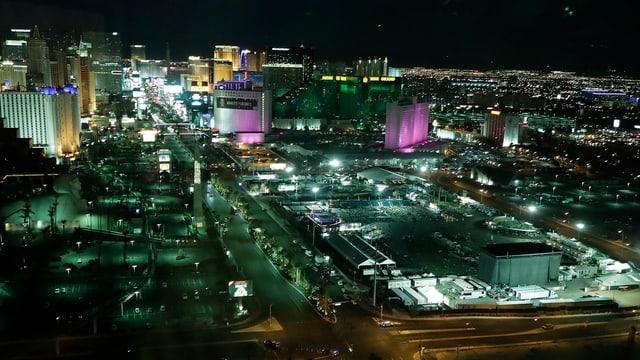 Vista da notg sur Las Vegas.