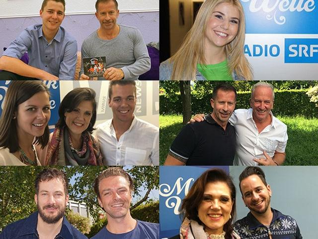 Collage mit verschiedenen Gästen der «Hit-Welle».