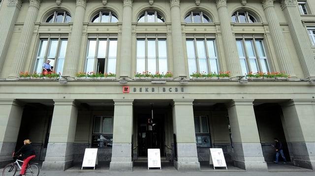 Der Hauptsitz der Berner Kantonalbank BEKB am Bundesplatz.