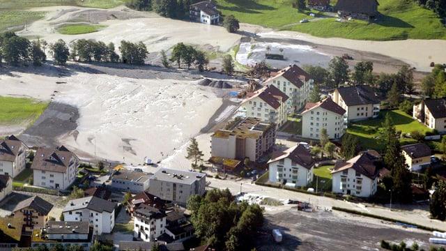Im August 2005 waren die Dreitagesmengen meist grösser, wie hier in Engelberg.