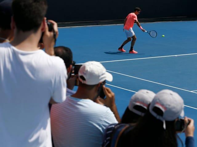 Federer beim Training.