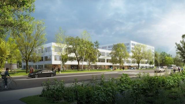 Visualisierung des Projekt LimmiViva für einen Neubau des Spitals Limmattal