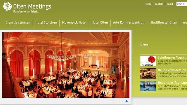 Internetseite von Olten Meetings