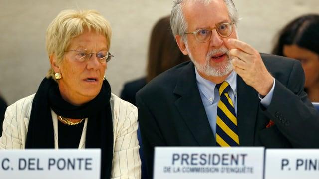 Carla del Ponte und Paulo Pinheiro.