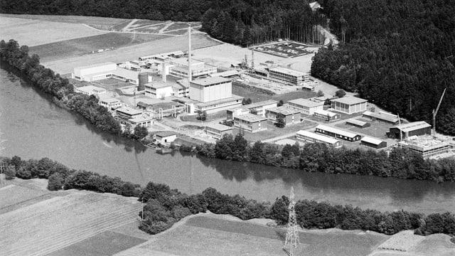 Luftaufnahme eines Industrieareals.