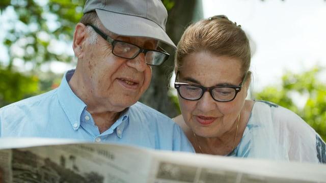 Jean Ziegler mit Frau Erika.