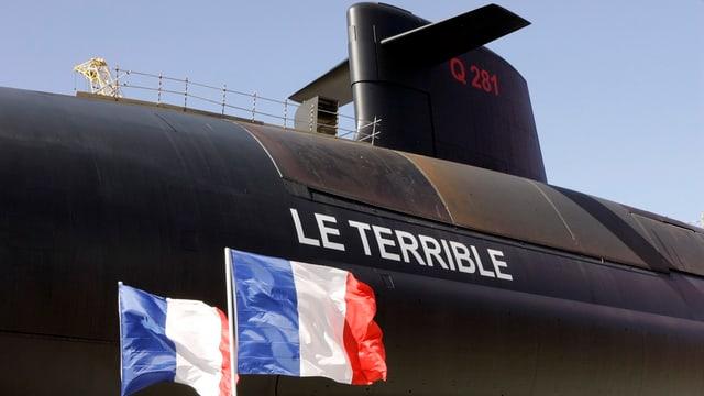 Detail eines U-Bootes.