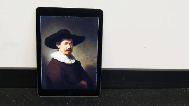 Ein Rembrandt auf einem Tablet.