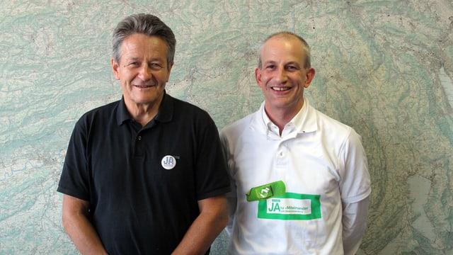 Portrait der beiden Initiativ-Vertreter