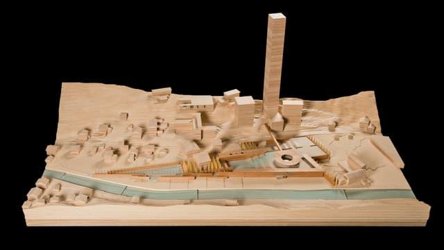 Il model dal parc planisà da Tadao Ando a Val.