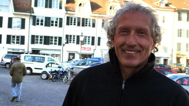 Porträt von Martin Rihs in der Stadt Solothurn.