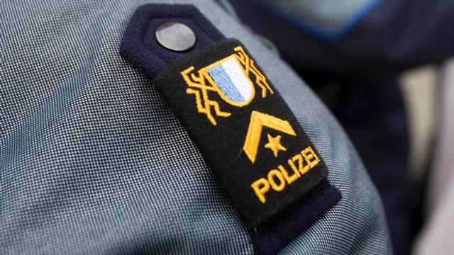 Ein Schulter-Abzeichen der Luzerner Polizei.