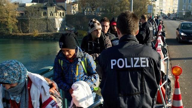 Flüchtlinge kommen in Bayern an