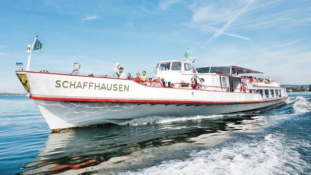 Das Flaggschiff «MS Schaffhausen» der Schiffahrtsgesellschaft Untersee und Rhein
