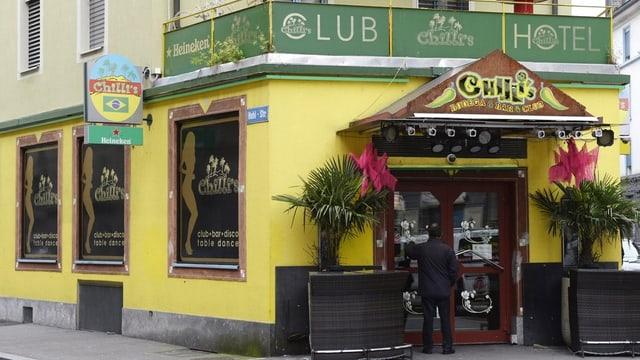 Eingang des Zürcher Nachtklubs Chilli's im Langstrassenquartier
