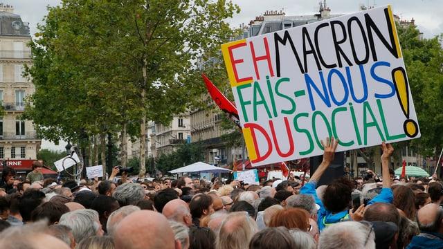 Proteste gegen Arbeitsmarktreform.