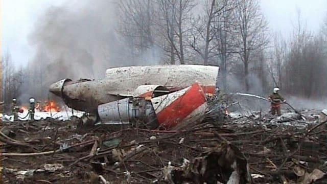 Trümmer der abgestürzten Tupolew-Tu 154