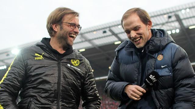 Jürgen Klopp (l.) und Thomas Tuchel 2012.