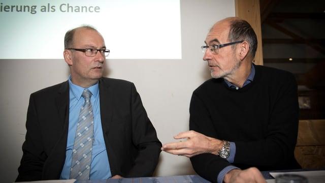 Il president da l'Uniun purila svizra Markus Ritter ed il directur Jacques Bourgeois.