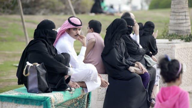 Strassenszene in Saudi-Arabien