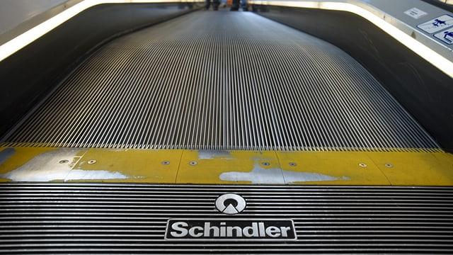 Eine Schindler-Rolltreppe.