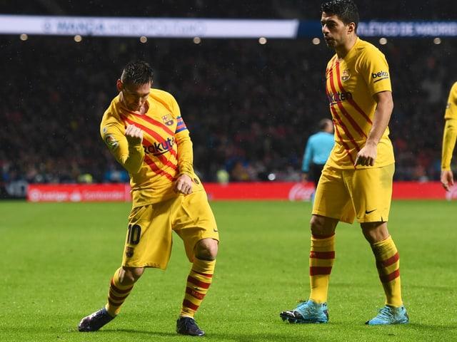 Lionel Messi und Vorlagengeber Luis Suarez.