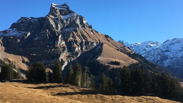 Am 1. Januar waren die Berghänge rund um Engelberg noch grün.