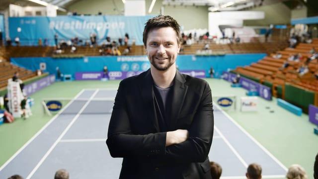 Robin Söderling beim Turnier in Stockholm.