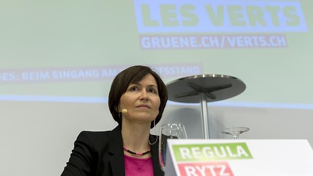 Purtret da la co-presidenta dals Verds e Cussegliera naziunala da Berna, Regula Rytz.