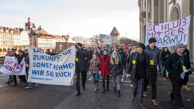 Demonstrationszug.