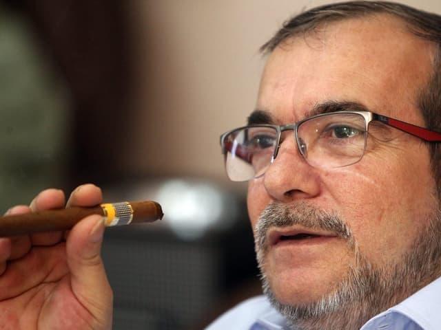 Timoleon Jimenez wartet auf das Ergebnis des Referendums über das Friedensabkommens (2.10.2016)