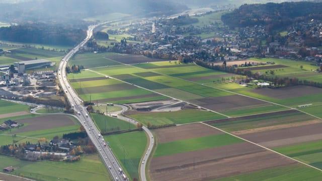 Luftaufnahme der Autobahn A1