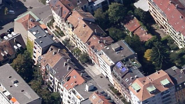 Luftbildaufnahme Landskronstrasse