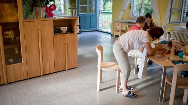 Situation in einem Wohnheim für Menschen mit Behinderung