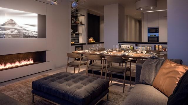 Innenansicht der Luxuswohnung «Le Bijou»