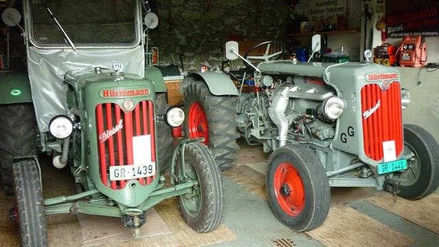 Dus tractors vegls da Gallus Giger.