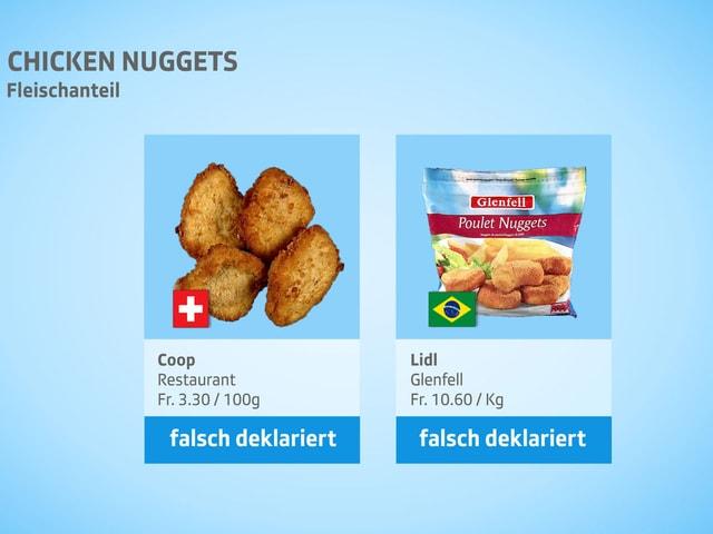 Chicken nuggets im backofen