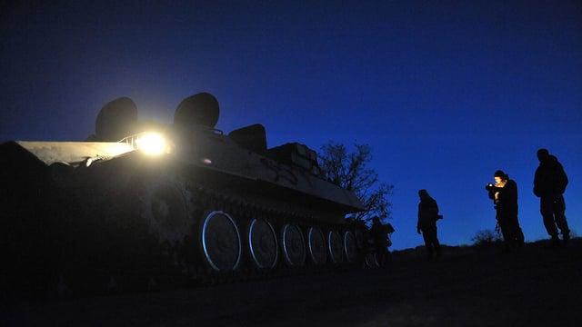 Soldaten in Lugansk.