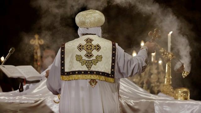 Papst Tawadros II. während einer Zeremonie.