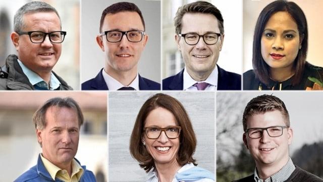 Set candidats che vulan l'anteriur sez da Karin Keller-Sutter.