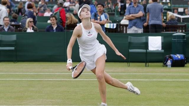 Simona Waltert vid dar tennis