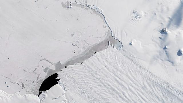 Satellitenbild aus der Antarktis.