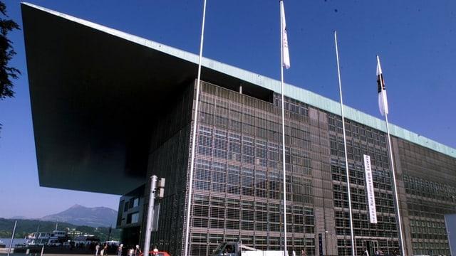 Das Gebäude des Kunst- und Kulturzentrums Luzern.